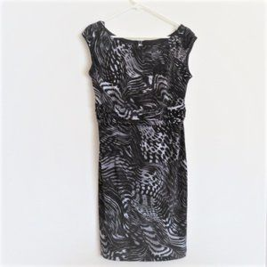 Woman's AB Studio Black Silver Sleeveless Dress